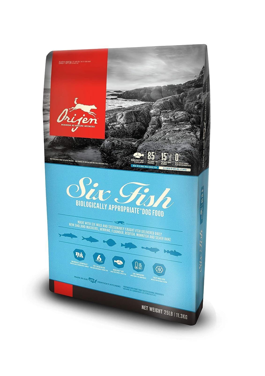 Orijen Six Fish Dog Food 25-Pound Bag - 1