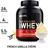 Optimum Nutrition Gold Standard 100% Whey Protein Powder, French Vanilla Creme, 2.27 Kilograms