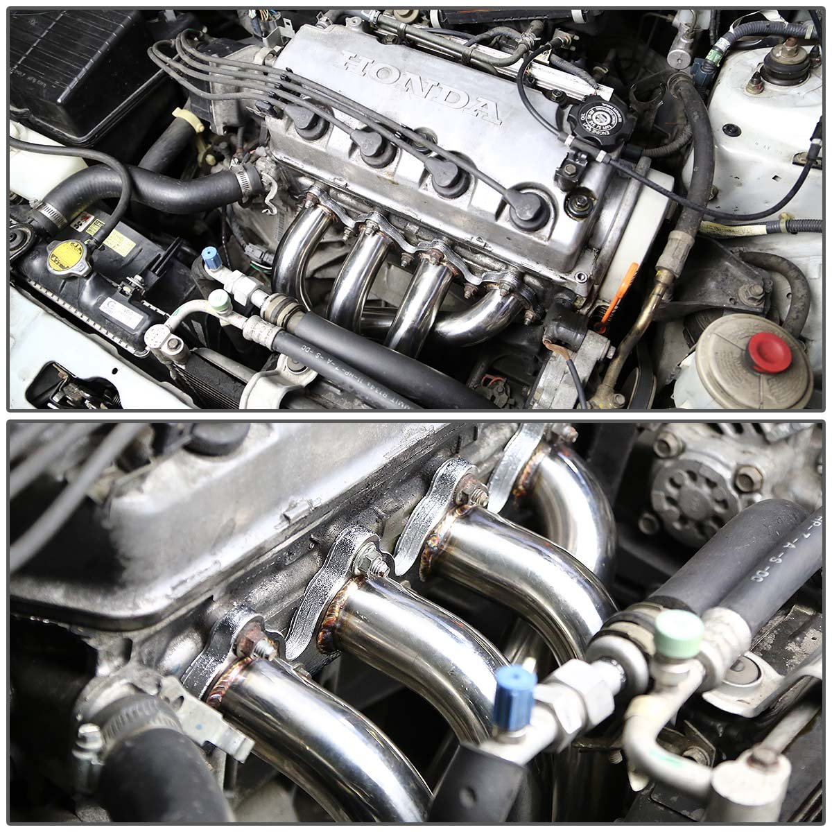 Dna Motoring Hds Hc88 Stainless Steel 4 2 1 Exhaust Header For Honda Prelude Fuel Filter D Series Headers Automotive Tibs