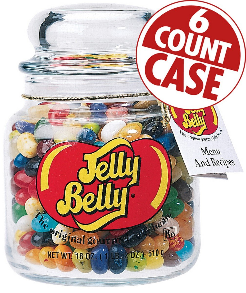 49 Assorted Jelly Bean Flavors Apothecary Jar - 6-Count Case by Jelly Belly