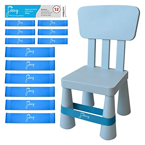 Chair Bands for ADHD Kids - (12-Pack) Bouncy Kick Fidgets for Elementary  sc 1 st  Amazon.com & Amazon.com : Chair Bands for ADHD Kids - (12-Pack) Bouncy Kick ...