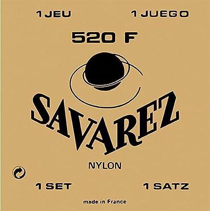 Savarez 655837 - Cuerdas para Guitarra Clásica, Juego Tradicional ...