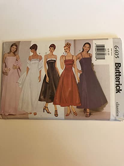 896fb7eebfef Image Unavailable. Image not available for. Color: Butterick 6405 sewing  pattern makes Misses Bridal Bridesmaid Prom Dresses Size 6-10