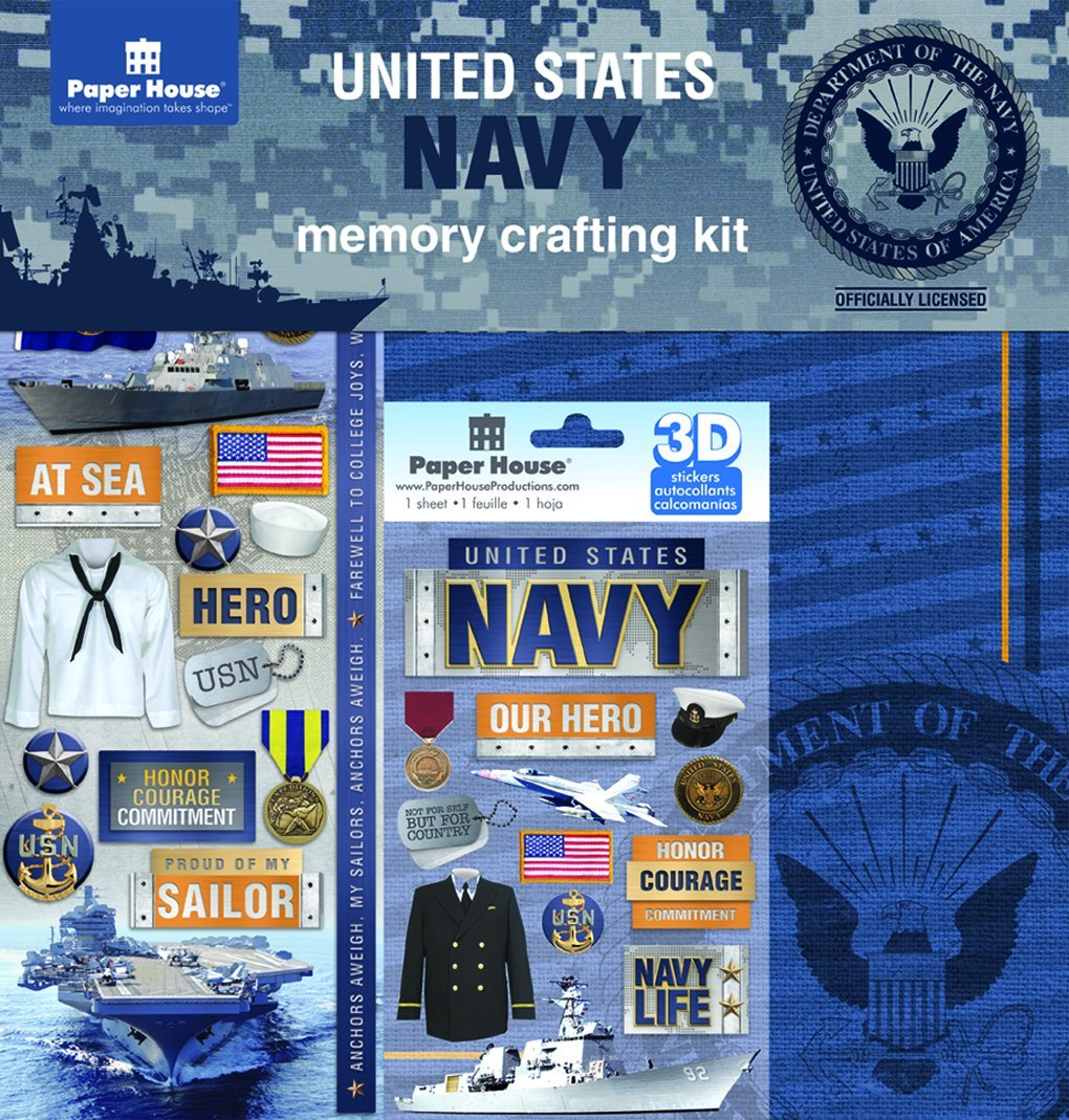 Paper House Productions KTSP-1019E United States Navy Paper Crafting Kits (3 Pack)