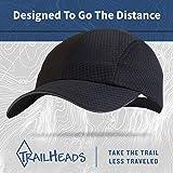 TrailHeads Women's Race Day Running Cap-Performance Hat - Black