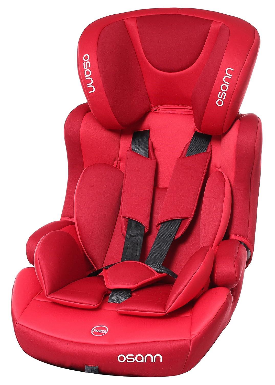 Osann 102 –  127 –  197 Lupo –  Seggiolino auto Plus, 9 –  36 kg, ECE Gruppo 1/2/3, di circa 8 mesi fino a 12 anni utilizzabile, Rosso 9-36kg Osann GmbH 102-