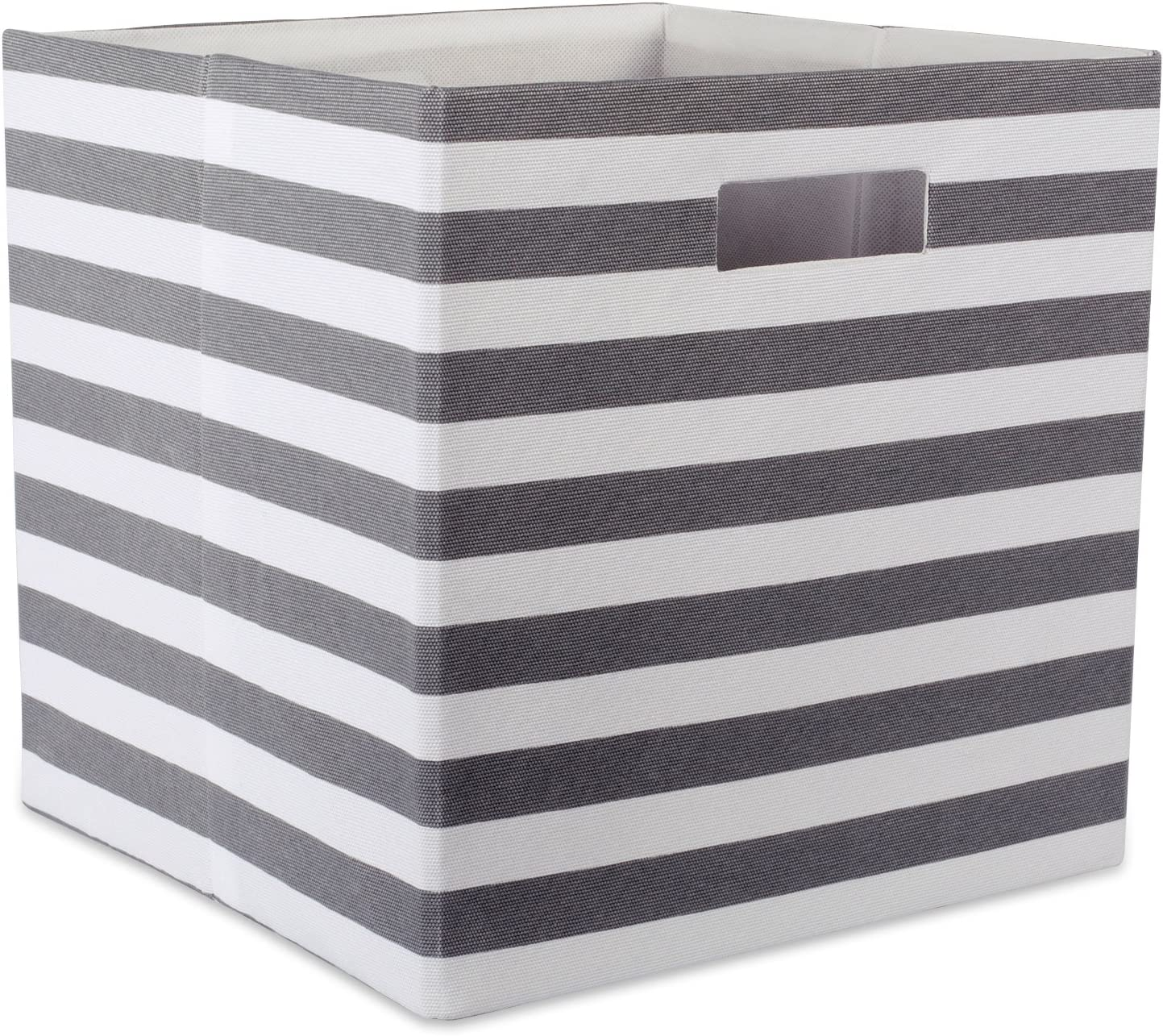 DII Foldable Fabric Storage Container for Nurseries, Offices, Closets, Home Décor, Cube Organizer & Everyday Use,  13 x 13 x 13, Chevron Gray, Large
