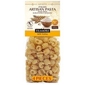 FRAMORE, Radiatori Pasta one pound pack of four Artisan Imported from Italy