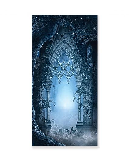 Amazon.com: Ambesonne Fantasy Wall Art, Passage Doorway Through ...