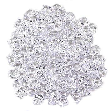 Acrílico transparente de calidad para hielo picado Ice Rocks for jarrón de regalo y mesa decoración - Aproximadamente 105 - 120 piezas: Amazon.es: Jardín