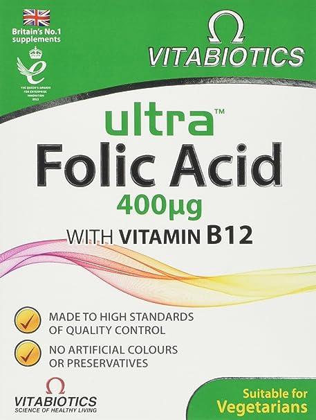 Vitabiotics Ultra Folic Acid Tablets, 60-Count
