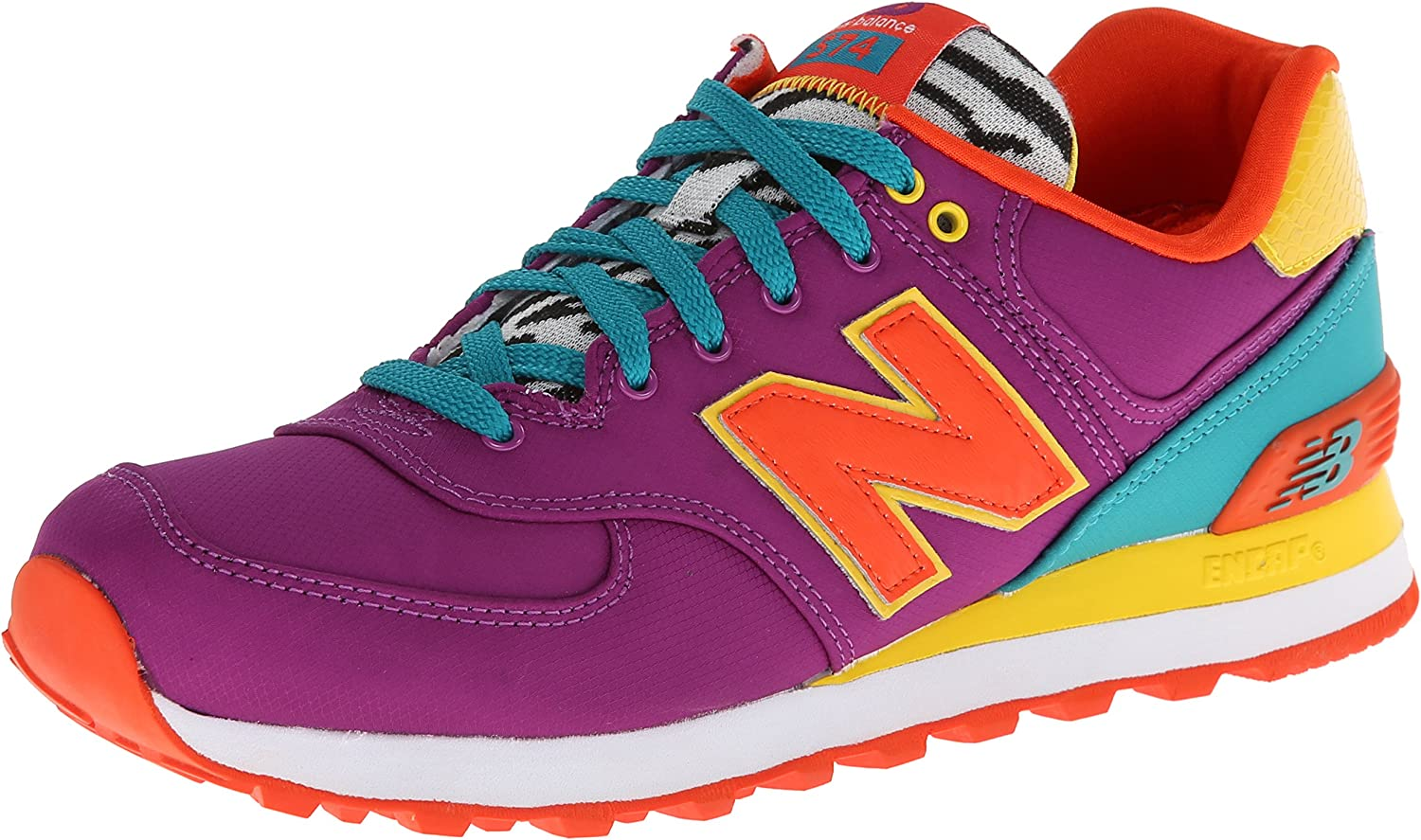 Aparentemente localizar cuatro veces  Amazon.com | New Balance Women's WL574 Pop Safari Pack Runner Sneaker |  Running