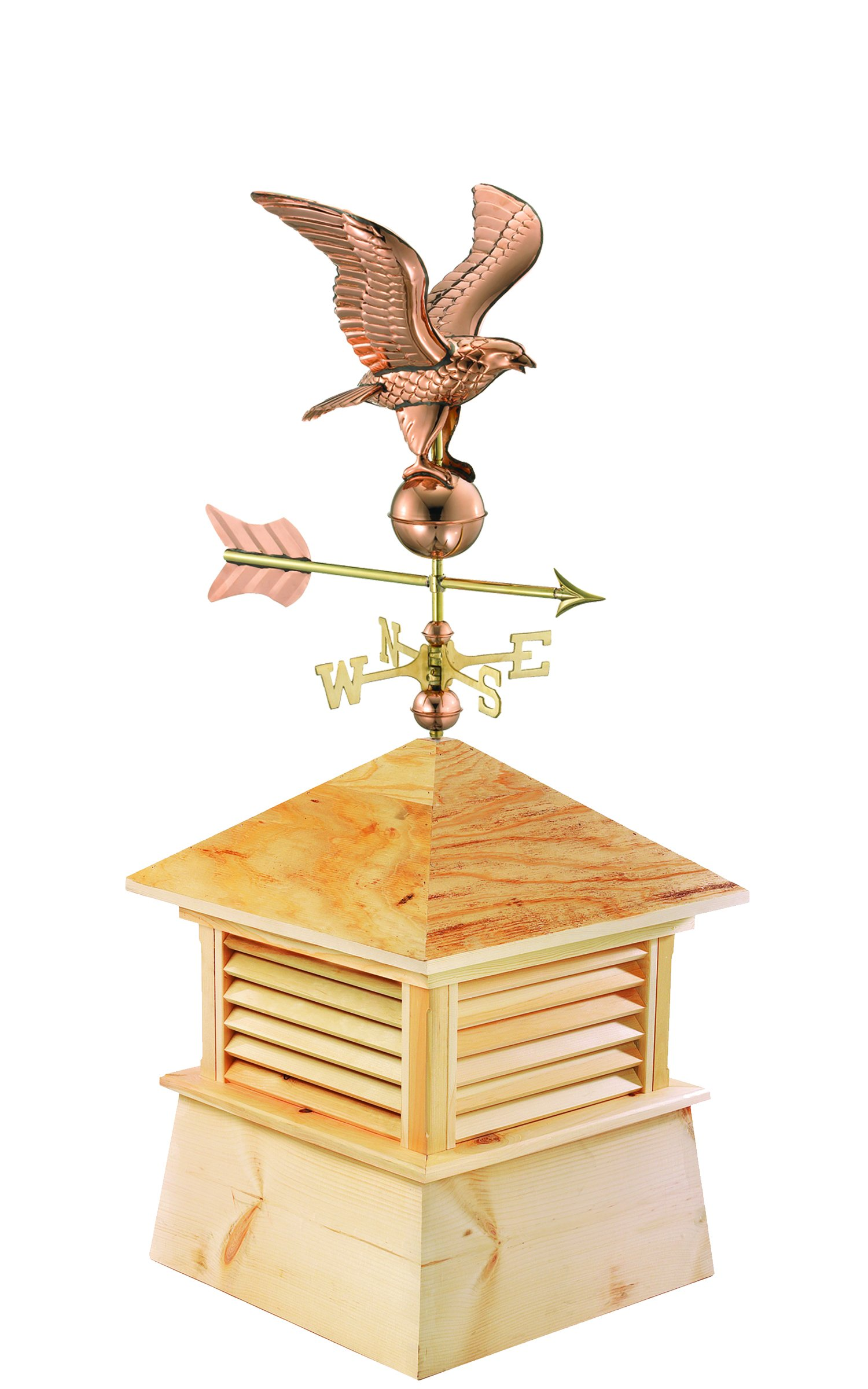 Good Directions 18'' Square Kent Wood Cupola with Cottage Eagle
