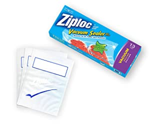 Ziploc ZL13GB3 Vacuum Sealer Gallon Bags, 13 Count