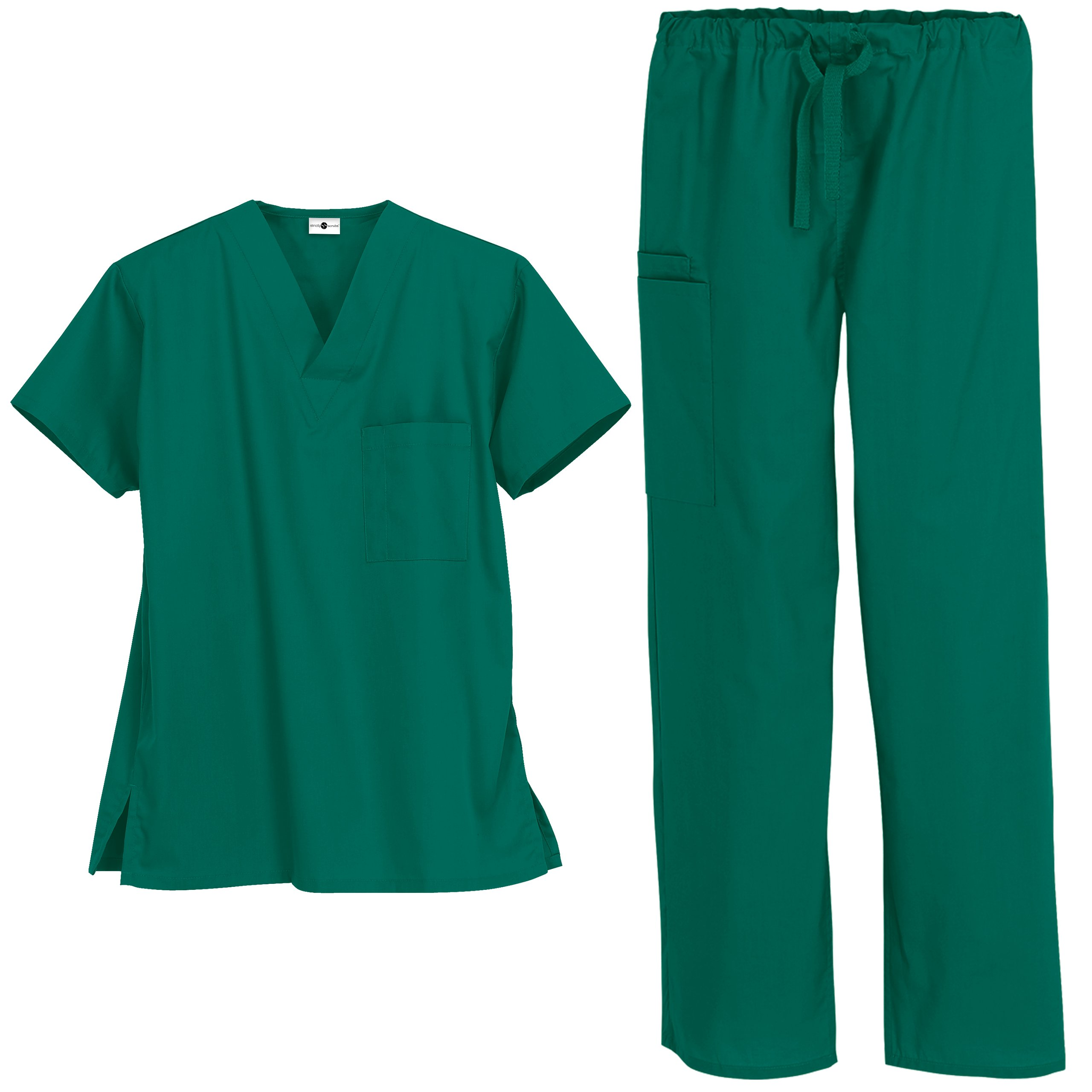 Strictly Scrubs Unisex Medical Uniform Set (XX-Large, Hunter)
