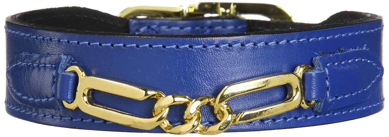 Hartman & pink 1562 Central Park Dog Collar, 12 to 14-Inch, Cobalt bluee