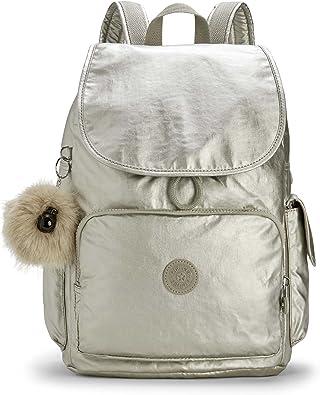 Kipling City Pack, Mochila para Mujer, Plateado (Silver Beige), 32x37x18.5 cm: Amazon.es: Zapatos y complementos