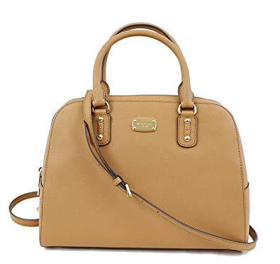 59f2c3f93 Amazon.com: Michael Kors Saffiano Leather Large Satchel Handbag (Acorn):  Shoes