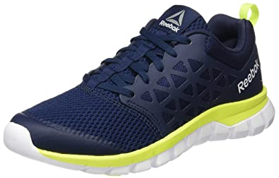 Reebok Bd5534, Sneakers Trail-Running Homme, Bleu (Collegiate Navy/Solar Yellow/White/Pewter), 42.5 EU