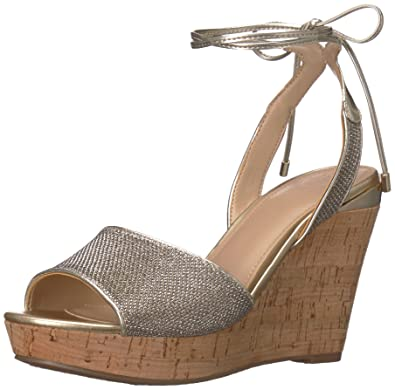 c30267985514 GUESS Women s EDINNA Wedge Sandal Gold 10 ...
