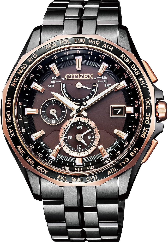 [シチズン]CITIZEN 腕時計 ATTESA アテッサ LIGHT in BLACK ダブルダイレクトフライト 日中欧米電波対応 針表示式 AT9096-73E メンズ B072HT6SK2