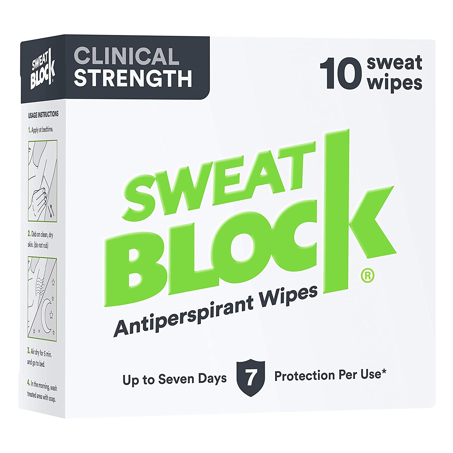 Sweat Block Antiperspirant Clinical Strength 8 Towelette Safety Reduce Treatment
