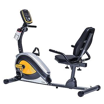 TechFit R400 Bicicleta Estática Reclinada, Ideal para el Entrenamiento de Recuperación, Sillín Ajustable, Sensores de Pulso y Monitor LCD: Amazon.es: ...