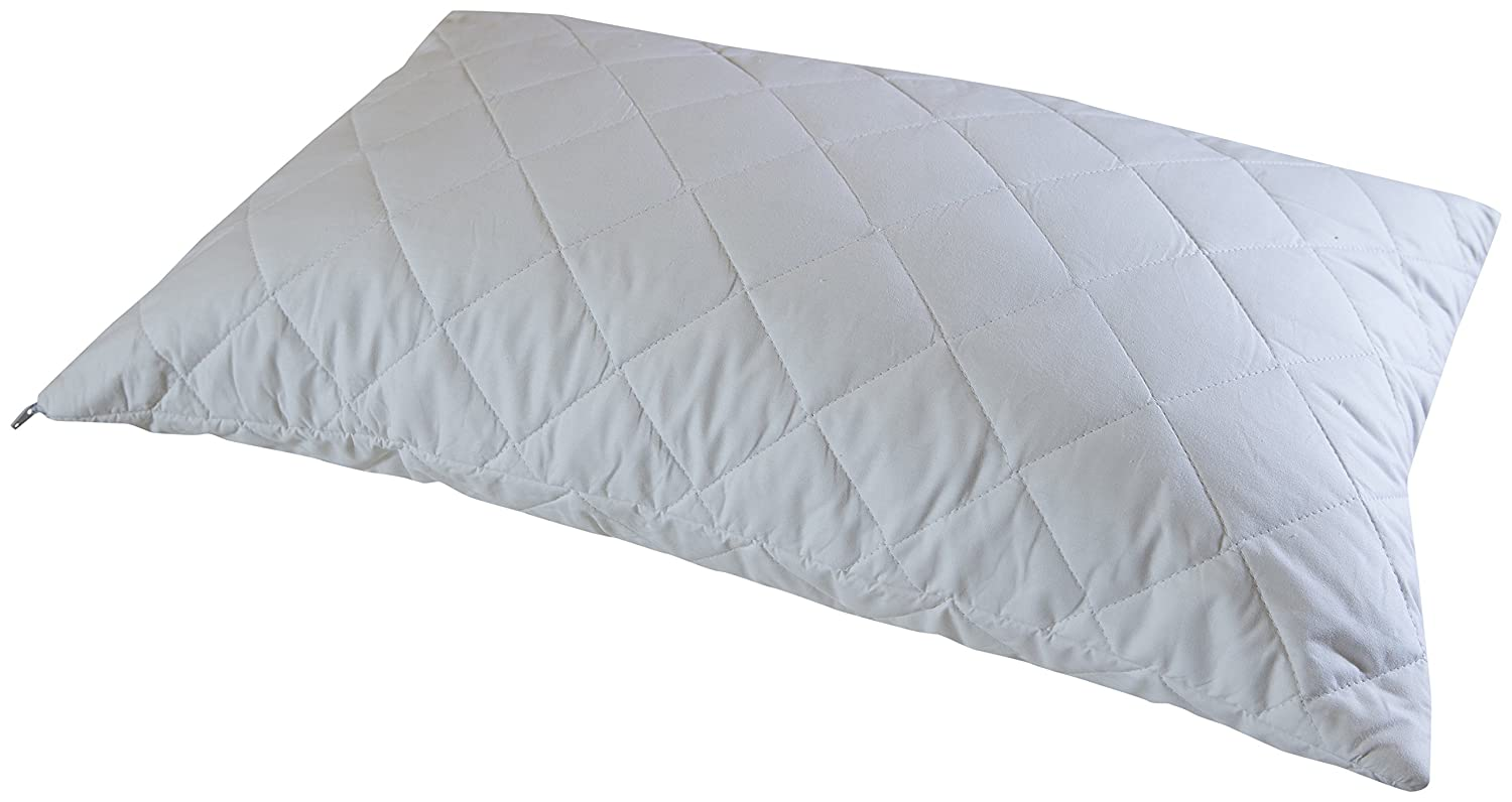 Cuddledown Quilted Pure Cotton Pillow Protector, Standard Size, Pack of 2 PRO-P-CO-S