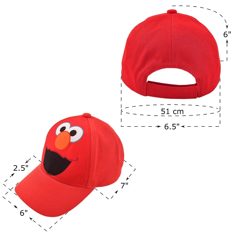9dbfdb31d Sesame Street Toddler Boys Elmo Character Cotton Baseball Cap Light Red Age  2-4 SXS75476AZ