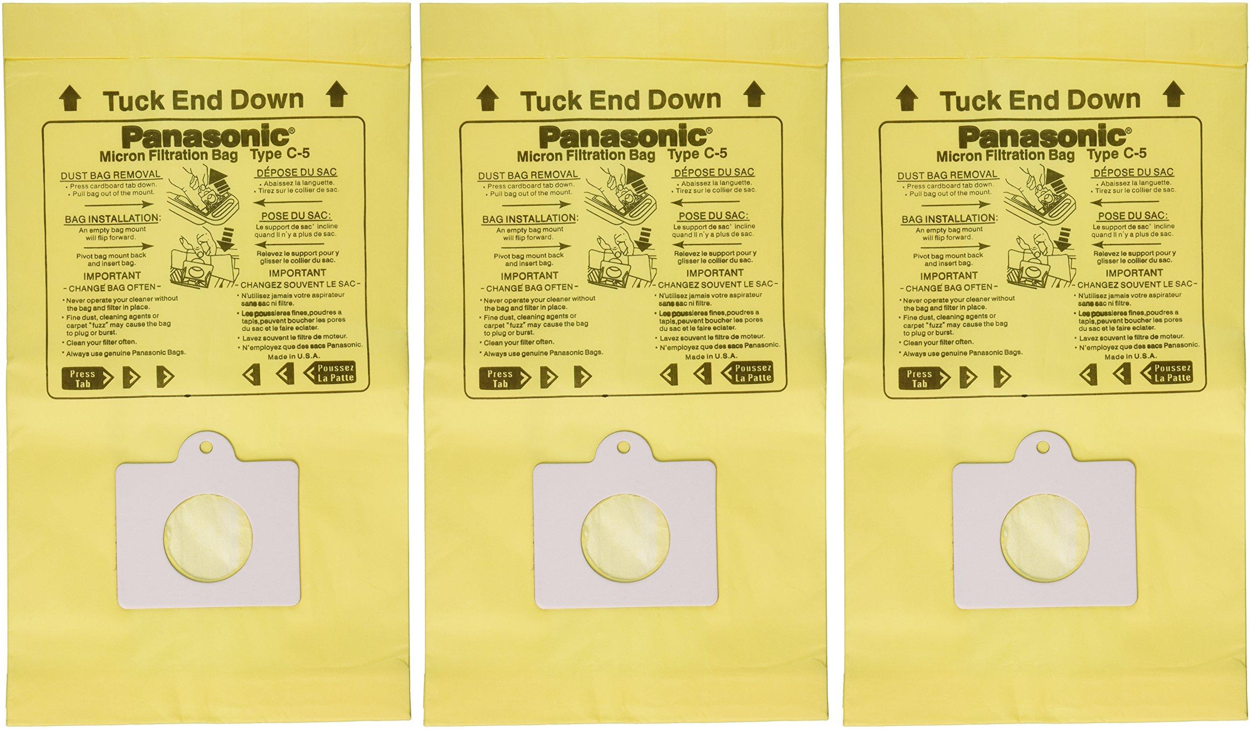 Panasonic Pana Type C5 Micro Can 9600 Series Paper Bag (Pack of 3)