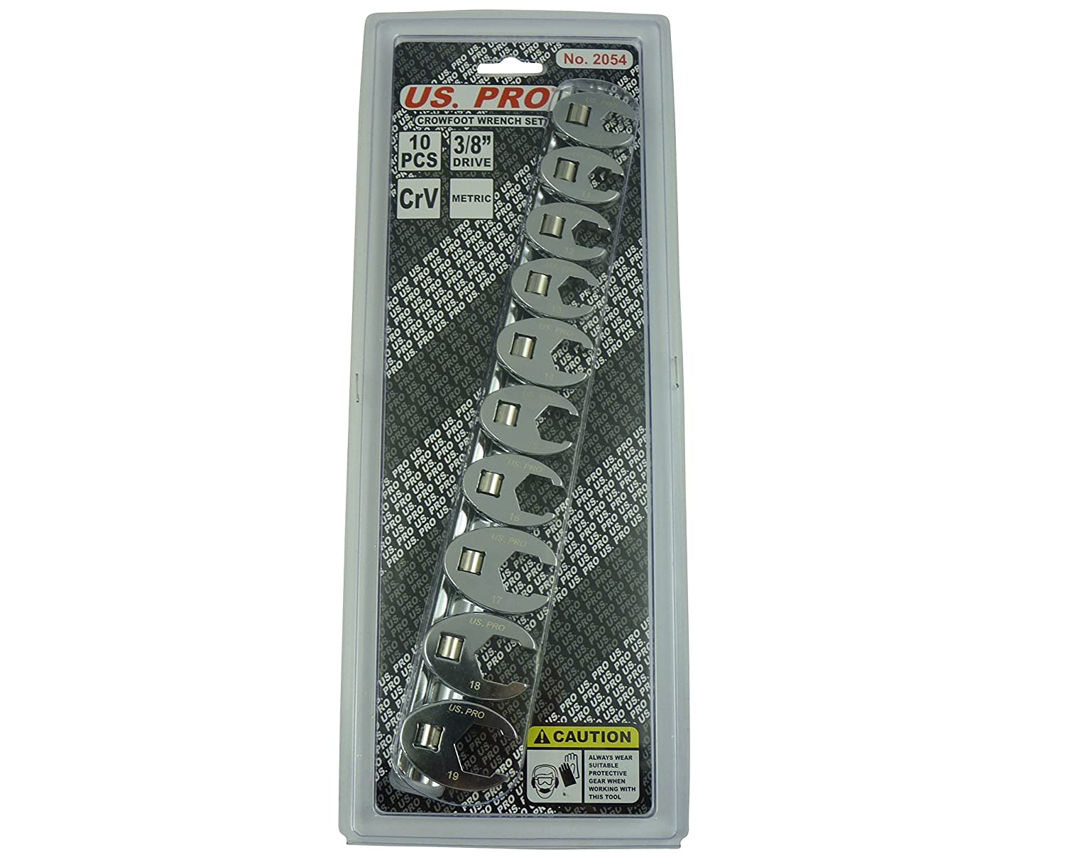 US PRO 10pc 3//8 dr Crowfoot Crowsfeet Crows Foot Spanner Wrench set 2054