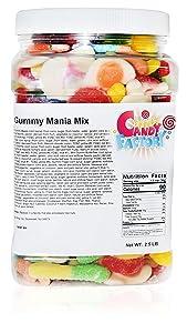 Sarah's Candy Factory Gummy Mania Mix in Jar (2.5 lb)