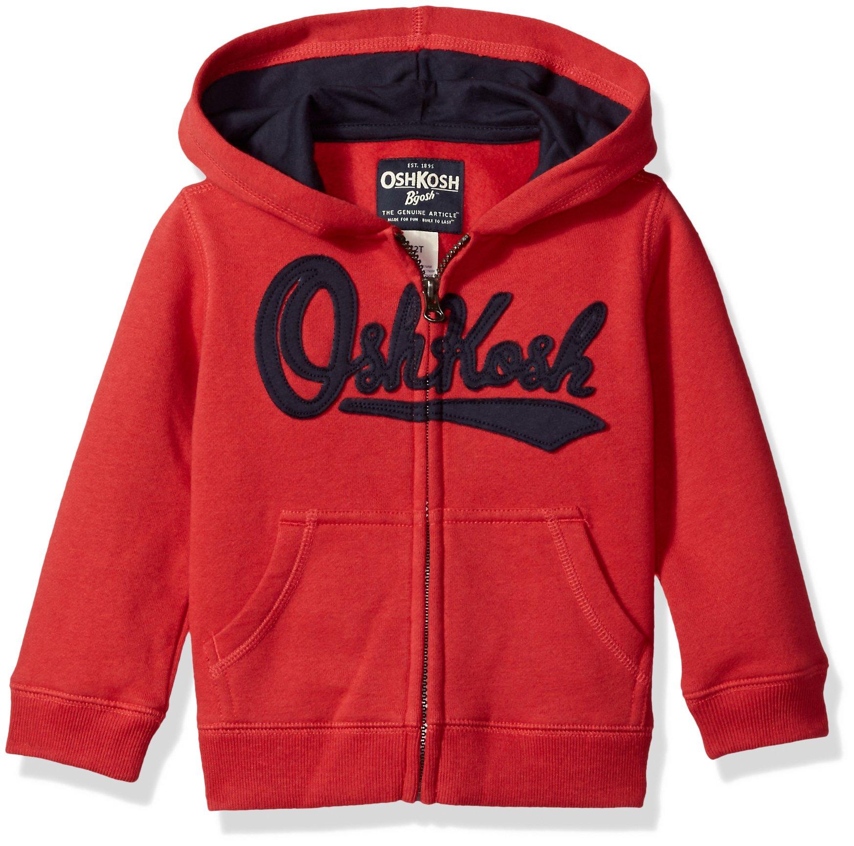 OshKosh B'Gosh Boys' Toddler Full Zip Logo Hoodie, red, 2T