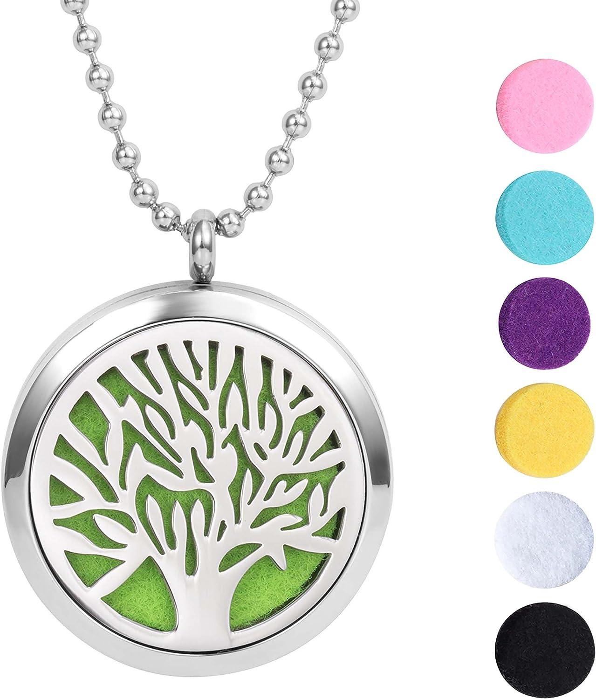 Meilanty Aromatherapie Kette Lebensbaum Anhänger, Damen