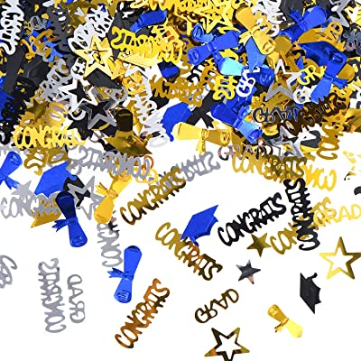 Boao Year of 2020 Graduation Confetti Grad Party Confetti Graduation Confetti Decoration for Graduation Party Celebration, 1.8 Ounce, 4 Colors: Toys & Games