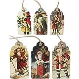 Sass & Belle Christmas Gift Tags - Vintage Style Christmas & Father Christmas Scene x 30