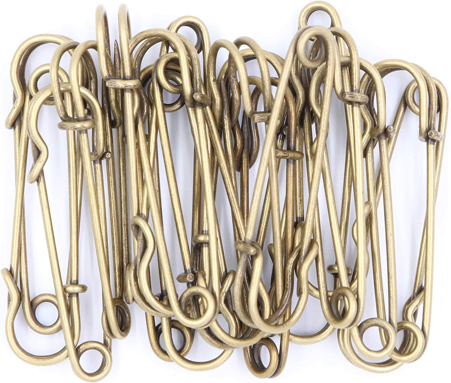 60 Large Metal Safety Pins Stainless Steel Heavy Duty Safety Pins Brooch Pins Fastening Jewellery Sewing Clothes For Kilts Blankets Skirts Crafts Pack of 10