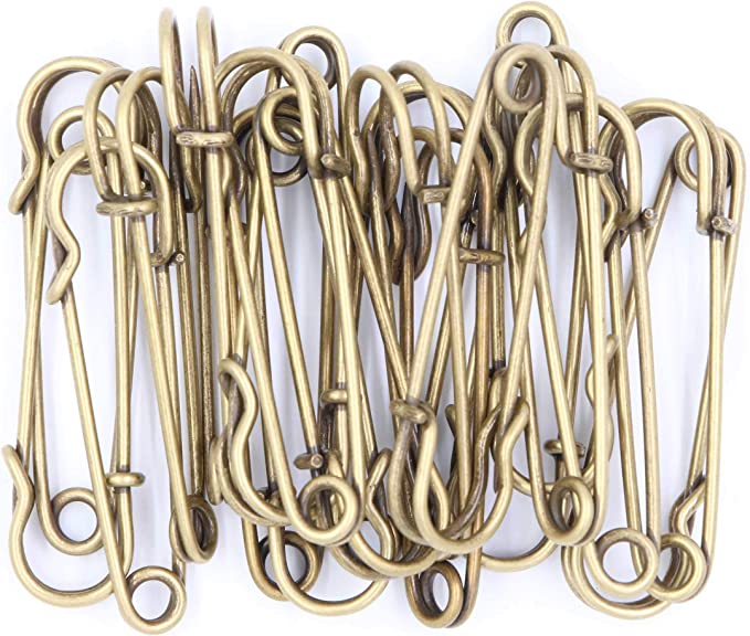 Baitaihem 50 Pcs Large Steel Safety Pins 3 inch Heavy Duty Safety Pins for Blankets Skirts Crafts Kilts