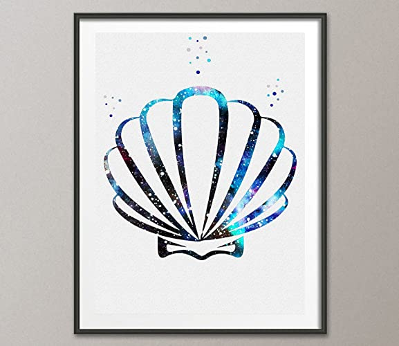 Amazon Seashell Watercolor Poster Ocean Life Posters Prints