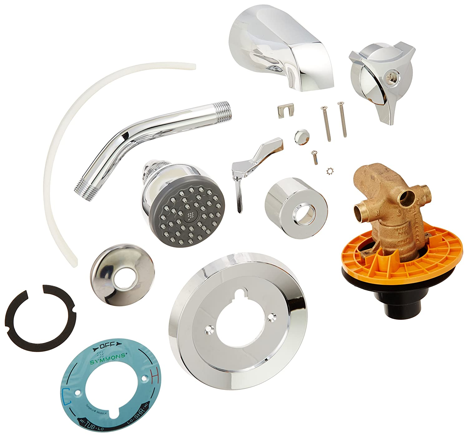 Symmons S-96-2 Temptrol Tub/Shower System - Shower Faucet Set With ...