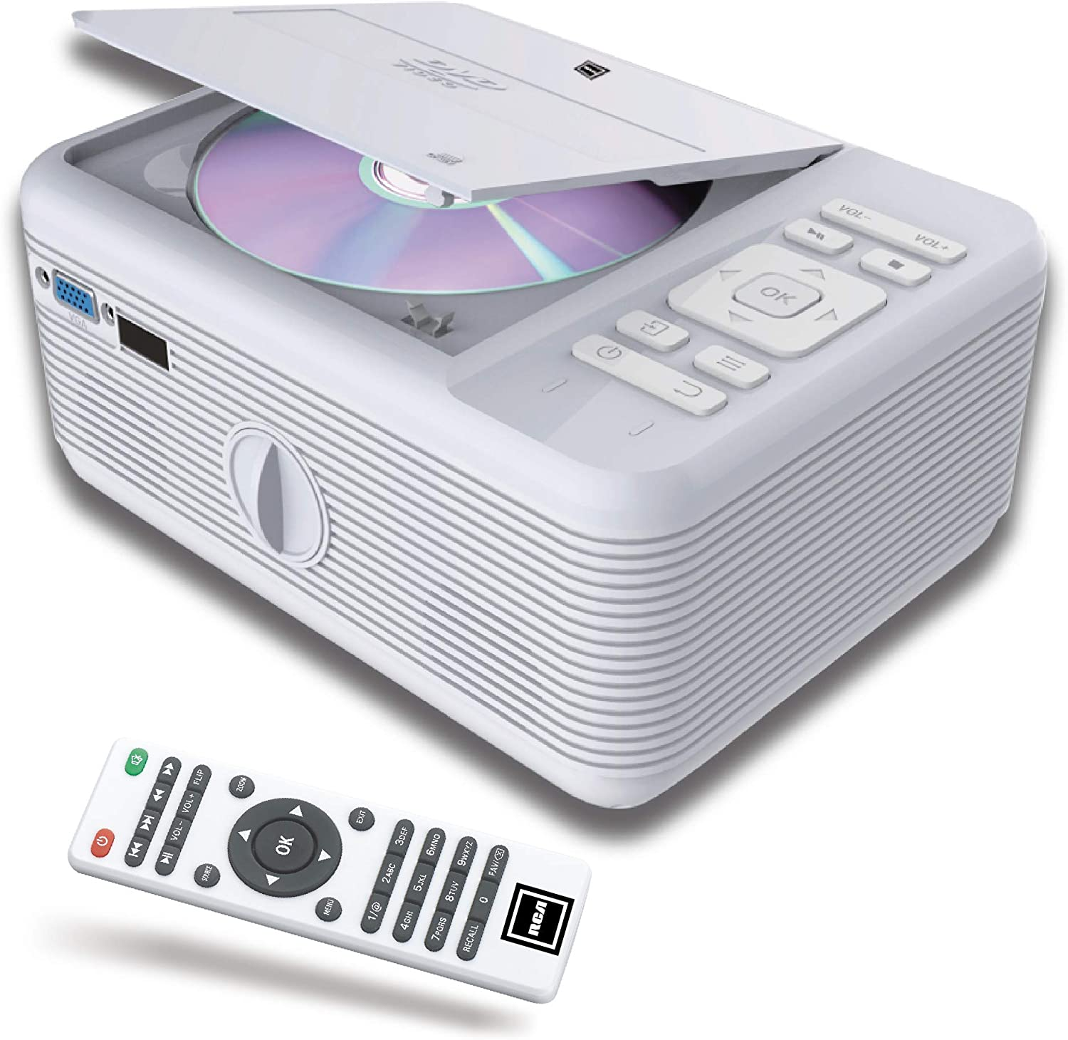 RCA Projectors, Video, Office, Presentations, Screen, HD, 1080p, Android, Wi-Fi (Built-in Bluetooth & DVD Player)