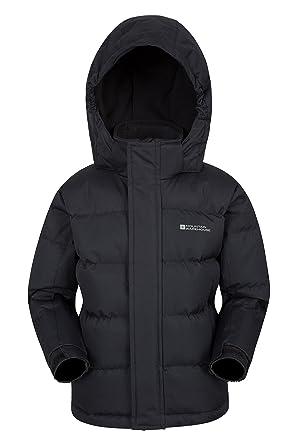 bdee0c7000625 Mountain Warehouse Veste matelassée Enfants Snow Youth-Résistante à l'eau,  Tissu Anti