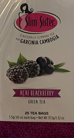 Amazon Com Acai Blackbery Naturally Slimming Green Tea With