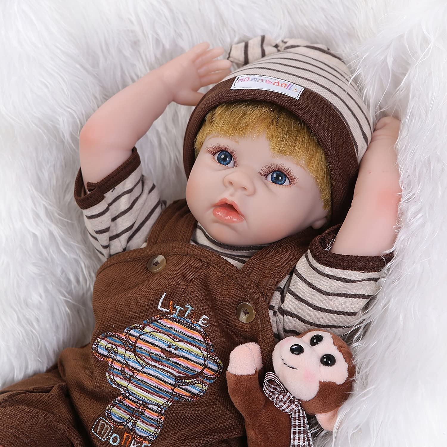 Lilith Reborn Dolls 22インチ55 cm Lovely Real Gentle Touch Rebornベビー人形Lifelike新生児幼児用ベッドTime Toyギフト   B07DFFVX7Q
