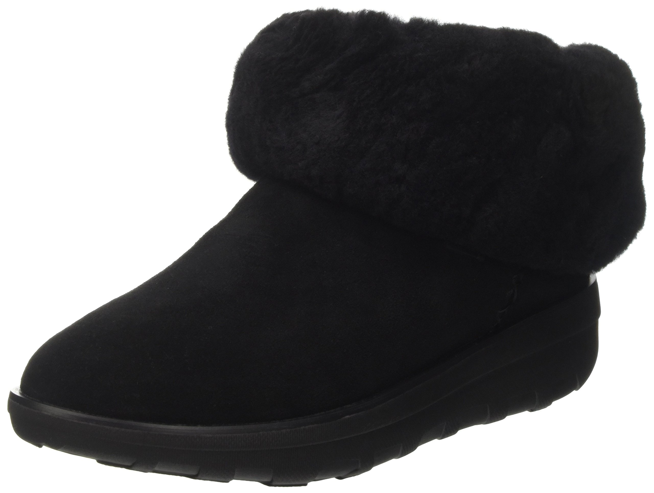 FitFlop Women's Mukluk Shorty 2 Boot All Black 6 M US