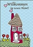 gl ckwunschkarte karte inkl umschlag umzug neues heim neues zuhause haus einzug wohnung. Black Bedroom Furniture Sets. Home Design Ideas