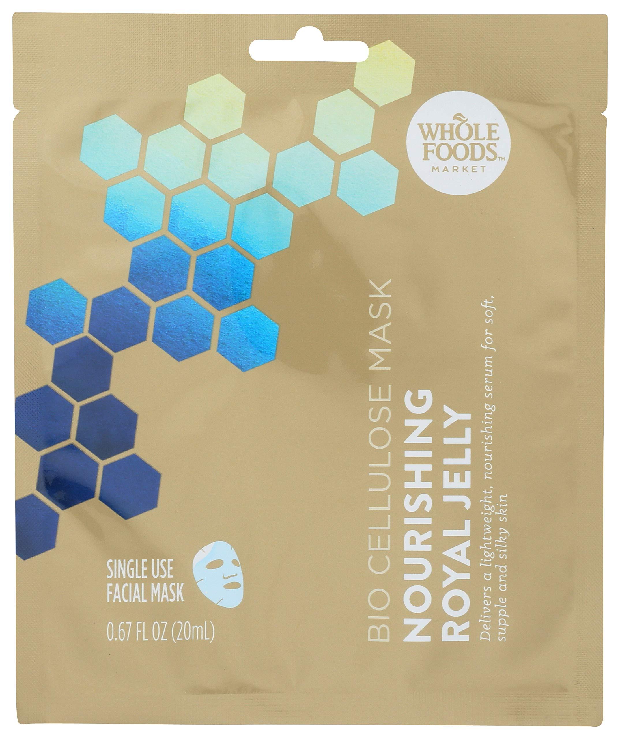 Whole Foods Market, Bio Celulose Mask, Nourishing Royal Jelly, 0.67 fl oz