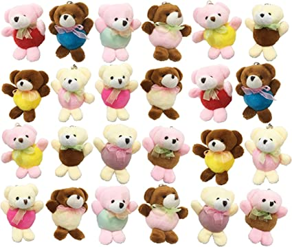 Super Soft Stuffed Animals For Babies, Amazon Com Tsotu Mini Stuffed Animals Bears 24 Packs Cute Keychains Bulk For Kids Party Favor Carnival Small Prizes Gifts Rewards Goodie Bags Filler Christmas Stocking Stuffers For Girls Mini Plush Toys Games