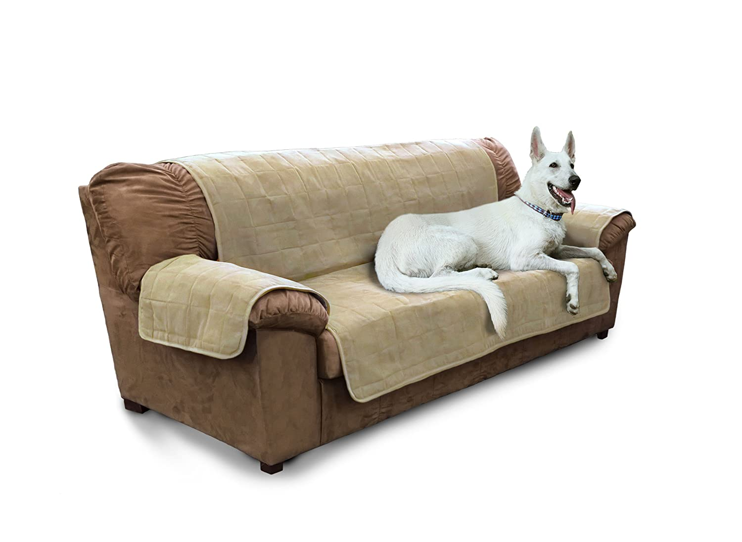 Clay FurHaven Pet Furniture Predector   Home Sofa Predector Cover for Dogs & Cats, Clay