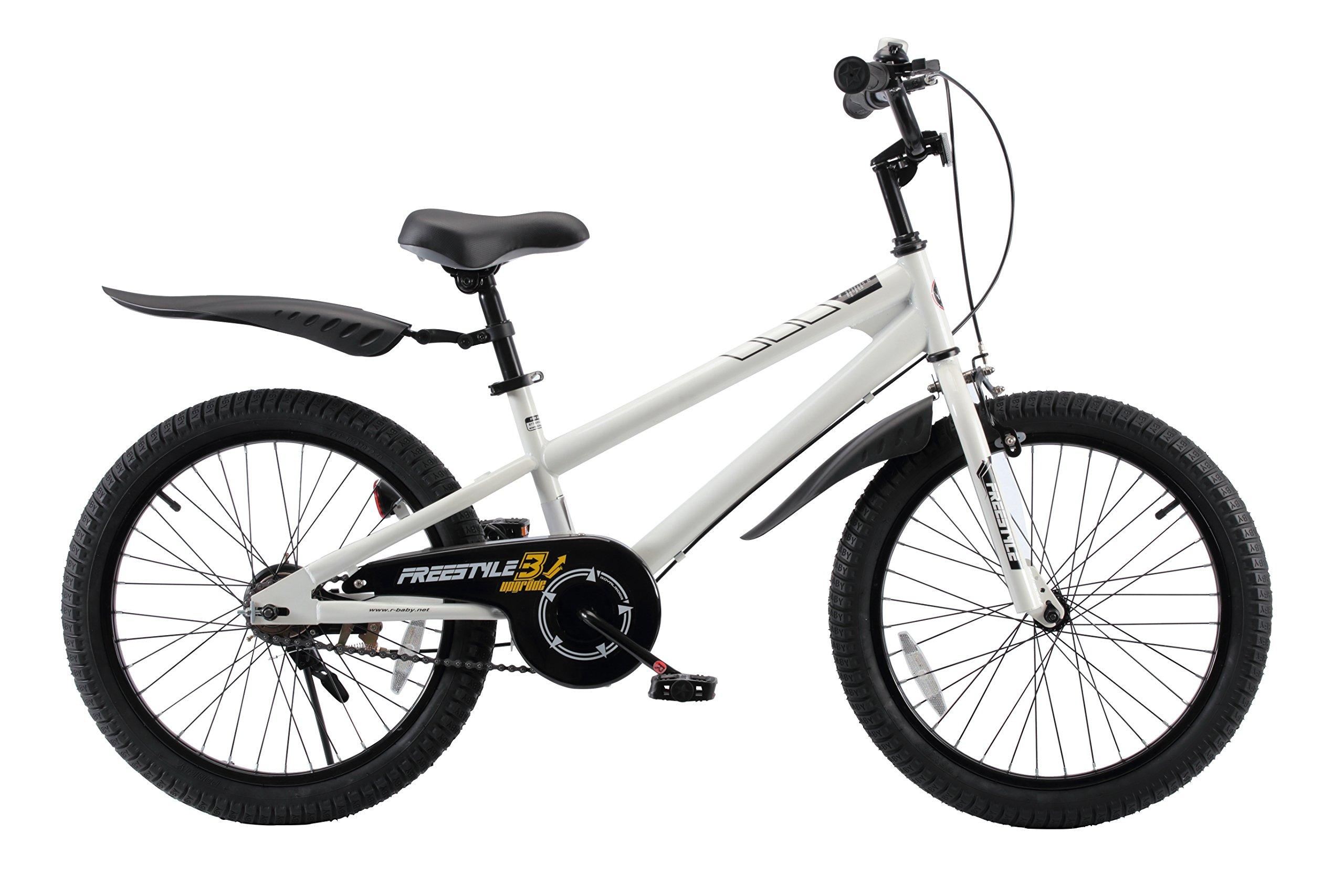 RoyalBaby BMX Freestyle Kids Bike, Boy's Bikes and Girl's Bikes, Gifts for children, 20 inch wheels, White by Royalbaby